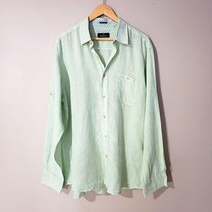 Bugatchi Long Sleeve Button Down Linen Men's Shirt